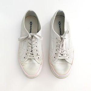 Superga 2750 Three-Stripe Sneaker Light Grey 8.5
